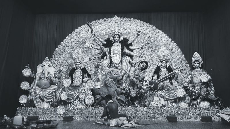Blackandwhite Photography Black And White EyeEm Best Shots - Black + White Durga Puja 2015 Navratri2k15 Kolkatacity DurgaPooja Durga Pujo Godess Durga Durgamaa