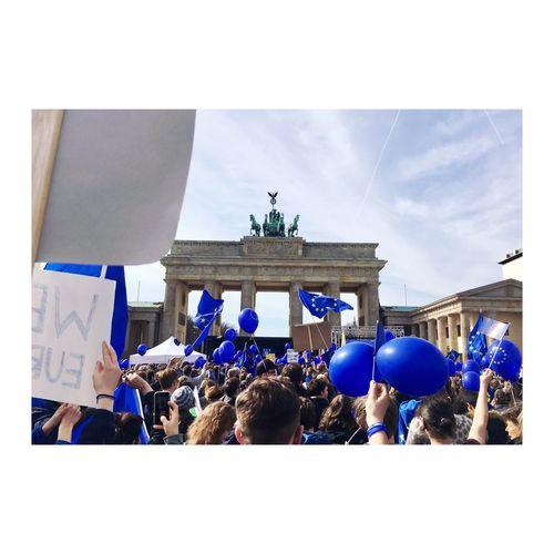 Eu60 Europaunited Berlin Equal Proud Safe Europe Large Group Of People Demonstration Makelovenotwar