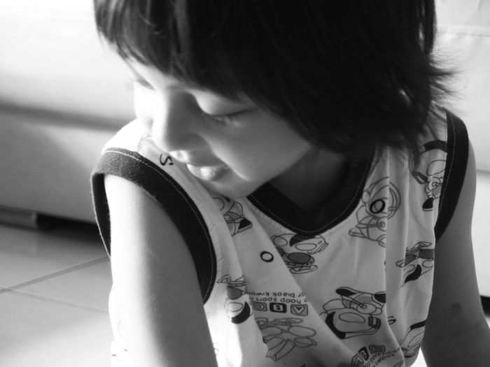 Kids Being Kids Kids Kidsphotography Expression Blackandwhite Kids Playing Portraiture Portraiture; B/W Photography Adult One Person People Indoors  Young Adult Day Close-up