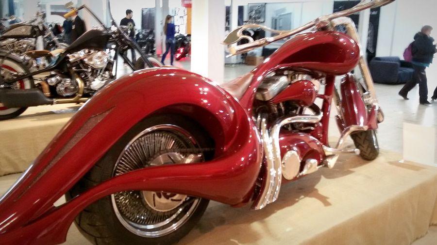 Color Photography Motowinter Exhibition Custom Motorbike Redwine Motorcycles Relaxing Enjoying Life