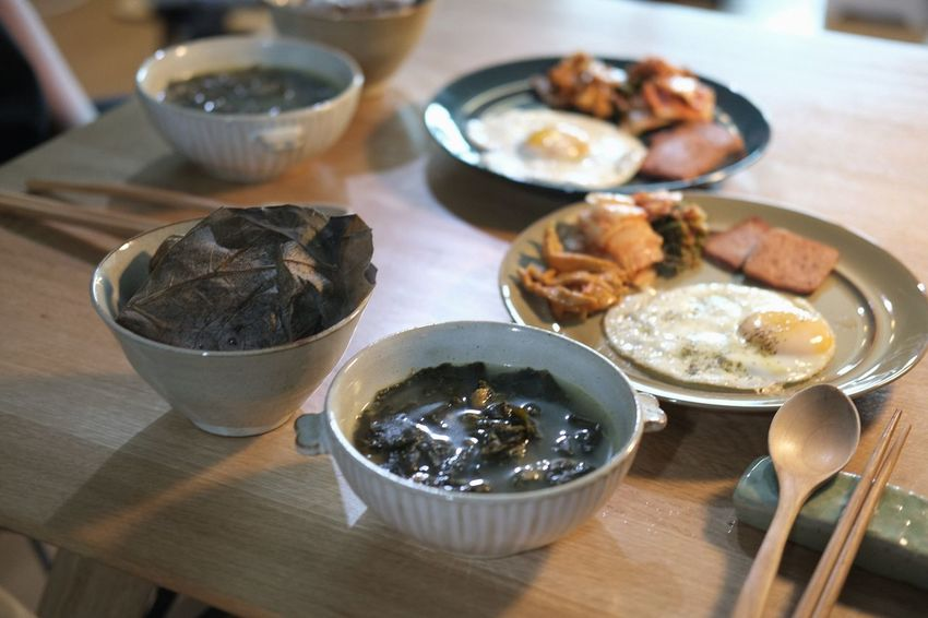 Korea Korean Food Bowl Close-up Day Focus On Foreground Food Food And Drink Freshness Health Food Healthy Eating Healthy Lifestyle High Angle View Indoors  No People Plate Ready-to-eat Seafood Serving Size Table Treditional Food
