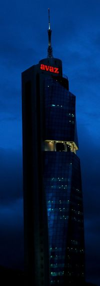 South Avaz Building Sarajevo Bosnia And Herzegovina Tower View To The South Nightphotography Night