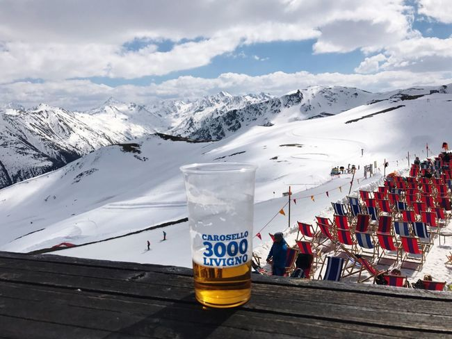 Livigno in Italy Carosello 3000 Carosello Mountain Sky Cold Temperature Day Outdoors Mountain Range Nature No People Snow Beauty In Nature Beer Beer Time Sport Ski Lift Beauty In Nature Winter Airplane Blue Alps