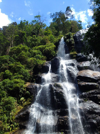 Beauty In Nature Brazil Cloud Day Flowing Water Forest Green Itatiaianationalpark Motion Nature Non Urban Scene Outdoors Power In Nature Purity Rio De Janeiro Rock Rock Formation Scenics Sky South America Tranquil Scene Travel Water Waterfall Live For The Story Go Higher Summer Exploratorium