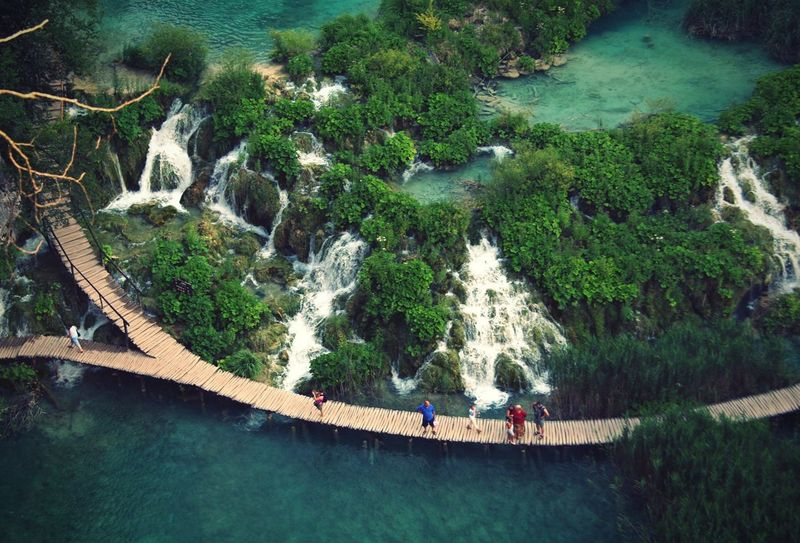Water High Angle View Outdoors Nature Beauty In Nature Fromabove Aerial View Scenics Adventure Landscape Plitvice Lakes National Park Plitvicelakes Plitvickajezera Plitvicelake EyeEm Nature Lover EyeEmNewHere Waterfalls Waterfall Flying High