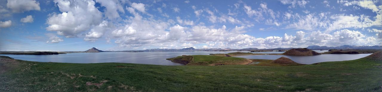 Lake Myvatn Angle Beauty In Nature Blue Sky Cloud - Sky Clouds And Sky Day Fast And Furious Film Location Iceland Lagoon Lake Lake Myvatn Landscape Nature Nature No People Outdoors Samsung Nx300 Scenics Sky Sky And Clouds Star Wars Water Water Reflections Wide Shot
