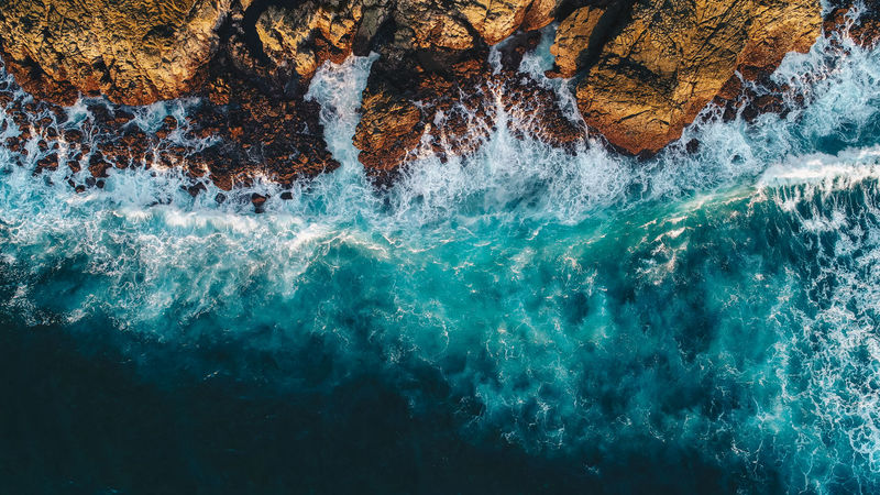 Drone  Perspectives On Nature Beauty In Nature Crashing Waves  Day Dronephotography Droneshot Motion Nature No People Outdoors Power In Nature Rock - Object Rock Formation Rough Scenics Sea Water Waterfront Wave Waves And Rocks Waves, Ocean, Nature
