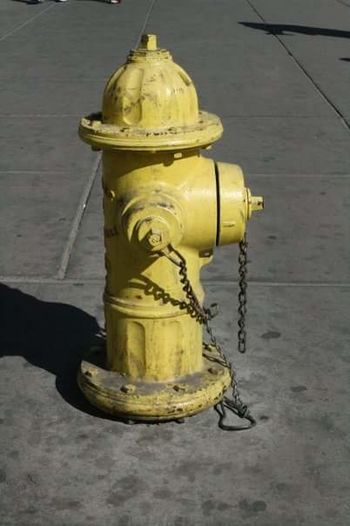 Water Hydrant Yellow No People Water Outdoors