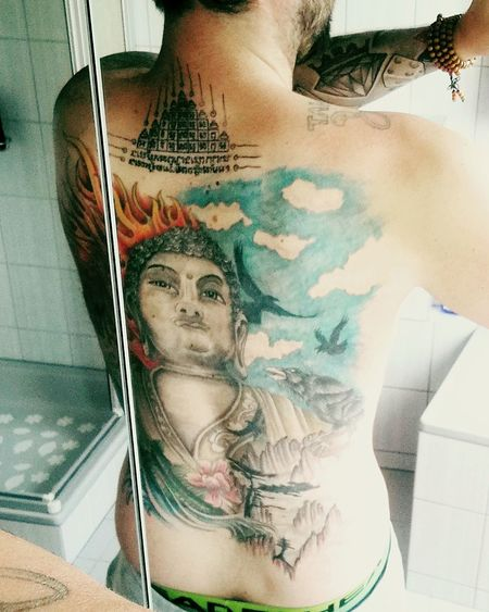 Human Body Part One Person Adults Only Adult Young Adult Human Skin People Human Arm Shirtless Only Men Indoors  Close-up Men Selfie Day Human Hand Tattoo ❤ Tattoo Thailand Tattooed Boys Back Tattoo