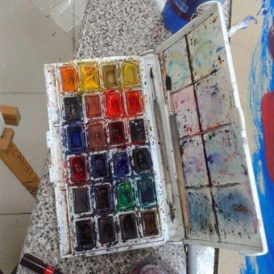 Моя любимая акварель акварель краски  рисунок
