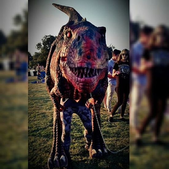 This guy had his eyes on me! DinosaurInThePark YouBetterNotRun HellCatchYou Soawesome BluesOnTheGreen ATx