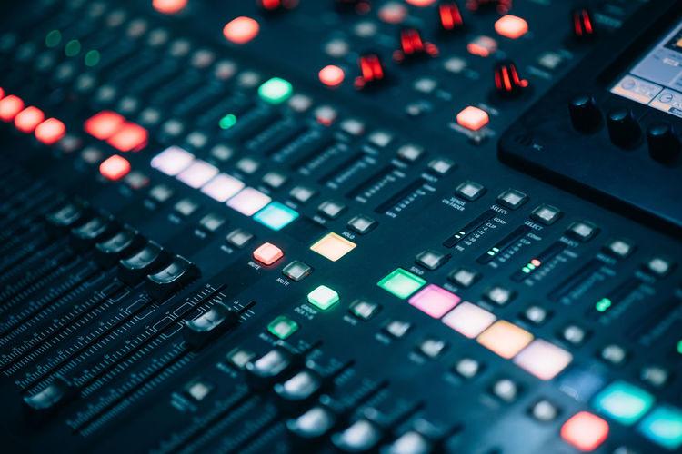 Full frame shot of sound mixer