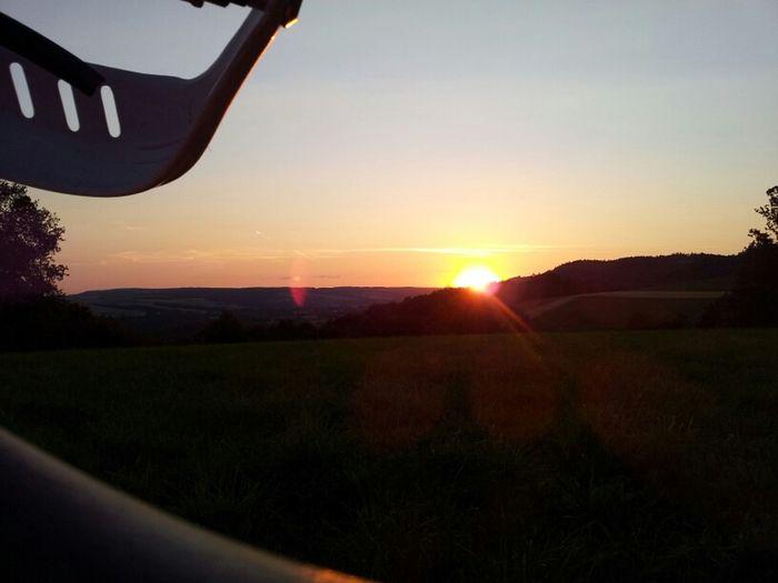 Sunset Sonnenuntergang Enduro Wirsberg