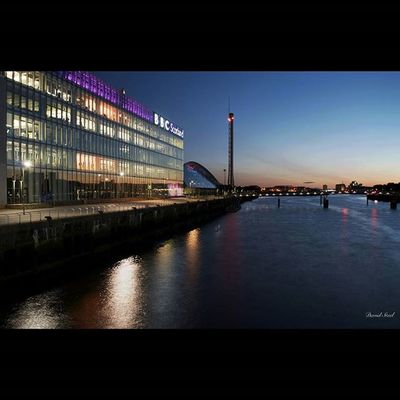 """BBC Scotland, The River Clyde, and a great sunset. ISO 100, f6.3, 10""""sec CPL. Princely_shotz Ig_shutterbugs Igsuper_shots Loves_Scotland BonnieScotland Insta_Scotland Master_shots Igbest_shotz Igsuper_shots Igmastershots Sky_sultans Sunset Nikond7000 Insta_sky_reflection RiverClyde BBCScotland Igbest_shotz Igsuper_shots Igmastershots Ic_water Ig_bliss Icu_britain Britains_talent Jaw_dropping_shots Global_hotshotz"""