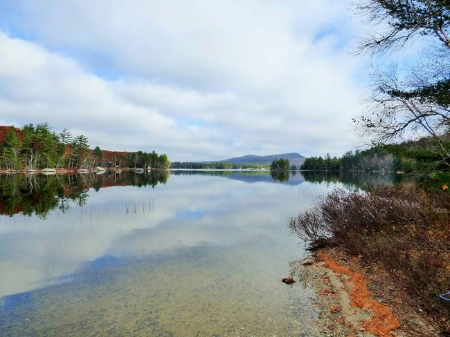 Mainephotography Camps Cloudreflection Clouds And Sky Pond Nature Photography Lakeshore Lake Lake View Maine Day No People Absence Forest Fall Beauty Mainewilderness Treereflection Water Nature Beautiful Calming Tranquil Scene Fall Colors Water Reflections Vibrant Colors