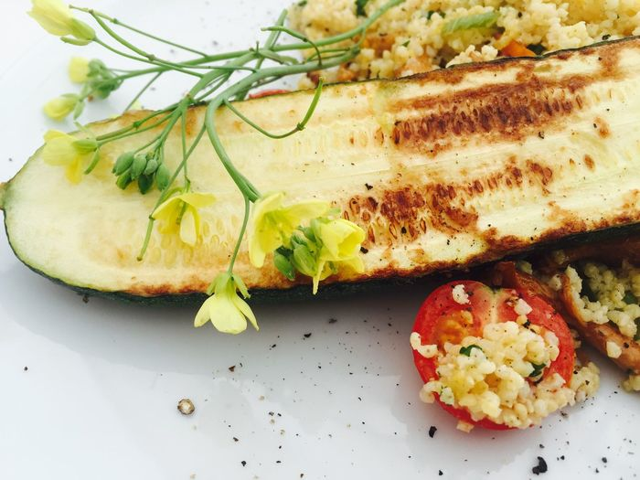 Cherry Tomatoes Courgette Food Freshness Lunch Time! Millet Ready-to-eat Vegetables Vegetarian