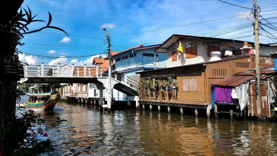 Bangkok Klong Channel River Riverside Water River House Boat Ride Boat First Eyeem Photo Thailand Water Reflections Tourism Life In Bangkok Wooden House