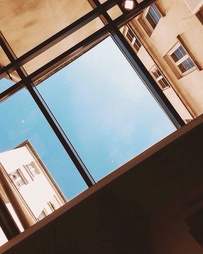 Sky Blue Low Angle View Built Structure Architecture Building Exterior Upward View Architectural Design Blue Sky Ceiling Sunny Look Up My Year My View IPhoneography Paris