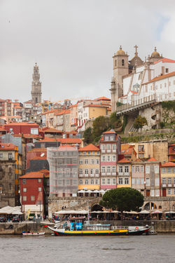 View of Porto. Porto Portugal Architecture Building Building Exterior Built Structure City Cityscape Day Incidental People Mode Of Transportation Nature Nautical Vessel Outdoors Passenger Craft Residential District River Sky Transportation Travel Travel Destinations Water Waterfront