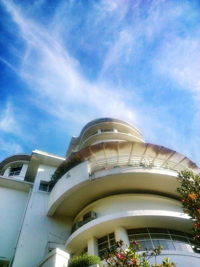 the sky above Isola Building.. The Sky Blue Sky Isola Building Historical Building Heritage Building Architecture Art Deco Architecture Protecting Where We Play