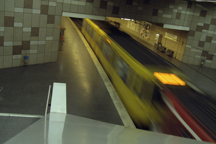 Architecture Blurred Motion Built Structure High Angle View Illuminated Indoors  Long Exposure Mode Of Transportation Motion No People on the move Public Transportation Rail Transportation Speed Subway Station Subway Train Train Train - Vehicle Transportation