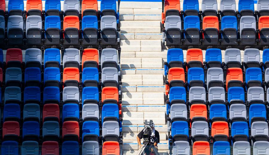 Man Filming In Stadium
