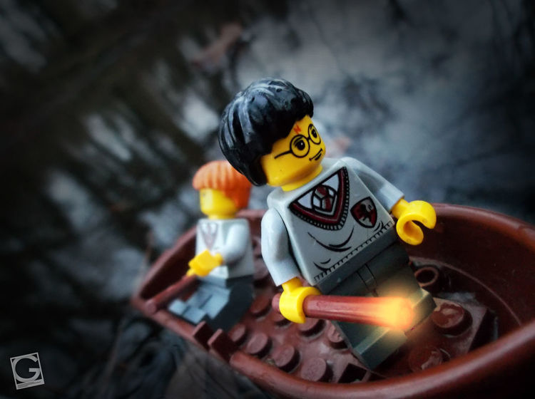 Wizards on the lake... #harrypotter #Lego #toyphotography