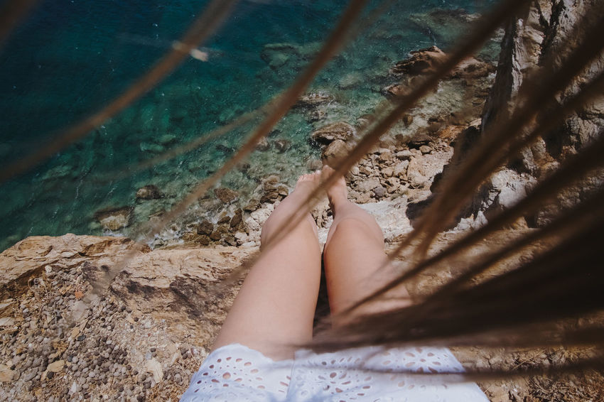 Exploring From Above  Hair Summertime Travelling Barefoot Beauty In Nature Blue Water Legs Messy Hair Nature Nature And Me Outdoors Summer Travel Destinations Traveller Vacation Water Windy Breathing Space