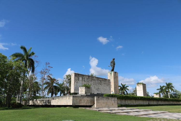 Cuba, Santa Clara, Che Ancient Architecture Blue Building Exterior Built Structure Che Che Guevara Cloud - Sky Cuba Day Monuments No People Outdoors Santa Clara Sky Travel Destinations Tree Neighborhood Map