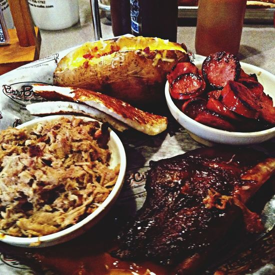 Tennessee BBQ! Delicious Food Roasting Meats Meat Overload