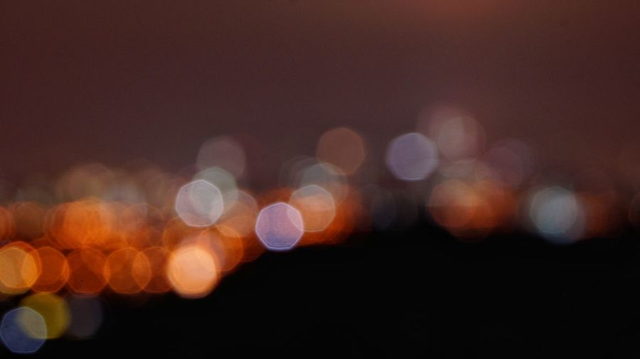 Defocused bokeh