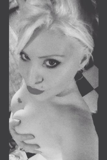 Blonde Tattoo Seductive Piercing Beauty Self Portrait Blue Eyes Sexy Girl