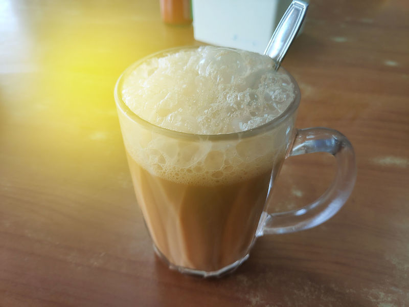 Food And Drink Refreshment Table Drink Indoors  Freshness Still Life Food No People Close-up Glass Cup Coffee Drinking Glass Household Equipment Coffee - Drink Wood - Material Mug Hot Drink Latte Pulled Tea Teh Tarik Milk Tea Foam Malaysian Food