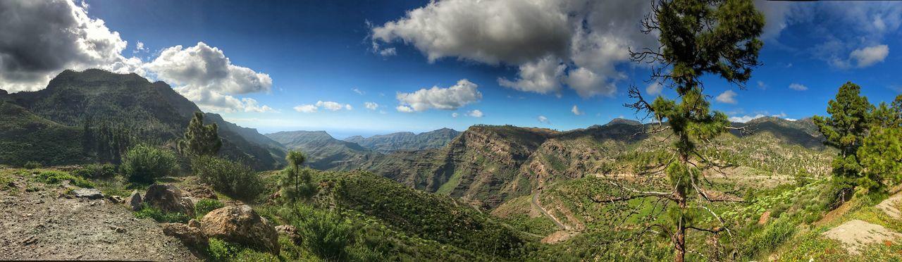 Artenara Beauty In Nature Cloud - Sky Day Gran Canaria Landscape Mountain Mountain Range Nature No People Outdoors Panorama Panoramic Scenics Sky Tranquil Scene Tranquility Tree