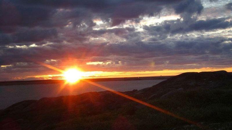 Sun Set Churchill River Back Road  Parks Canada