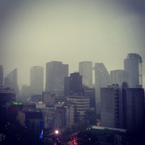 Mexico City Sky City Building Exterior Architecture Aftrnoon Urban