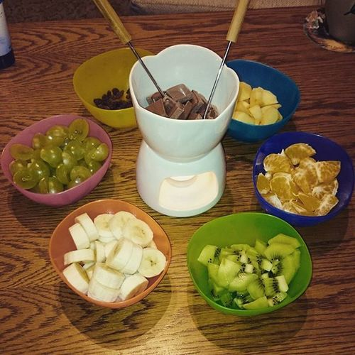 Food Delicious Fondue Fruit colors chocolate yummy happy