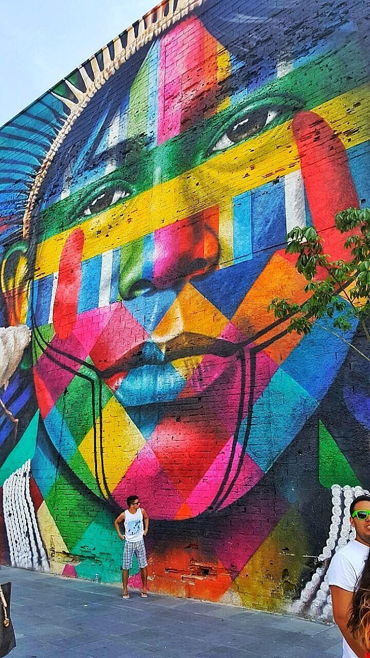 multi colored, art and craft, creativity, day, outdoors, street art, one person, close-up, people, sky