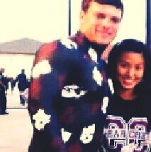 Its Blurry :( But Me & Chase Homecoming Sophmore Year!