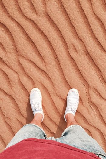 The desert on the red planet Human Foot Low Section Human Body Part Shoe One Person Directly Above Human Leg High Angle View Adults Only One Man Only Standing Close-up Adult Day People Only Men Outdoors