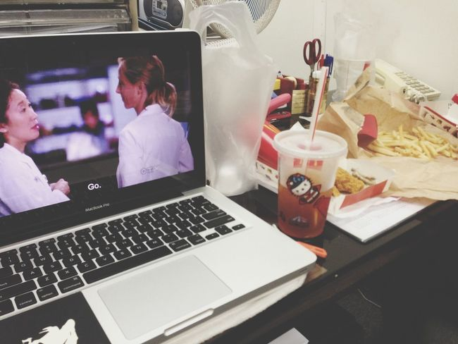Grey's Anatomy N Mcdonalds made a good lunch at dad's office. :D