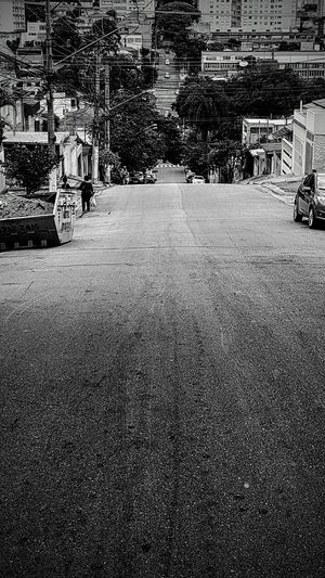 Uphill Downhill City Sloping Road Slope Street Cables And Wires Urban Asphalt Pavement