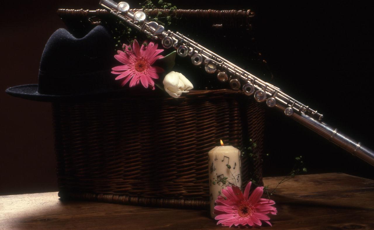 Flute On Wicker Basket