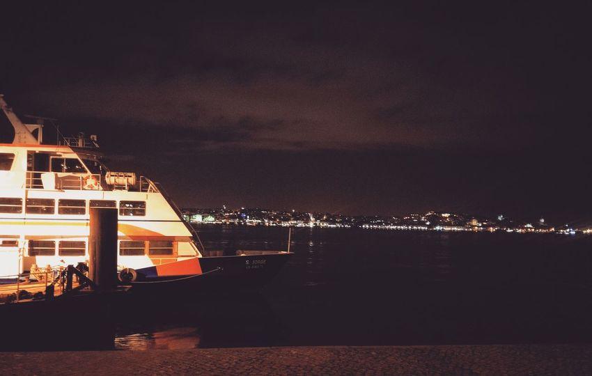 Lisbon Light And Shadow Night Lights Cityscape Dramatic Sky Lisbonlovers LisbonLight 🚢