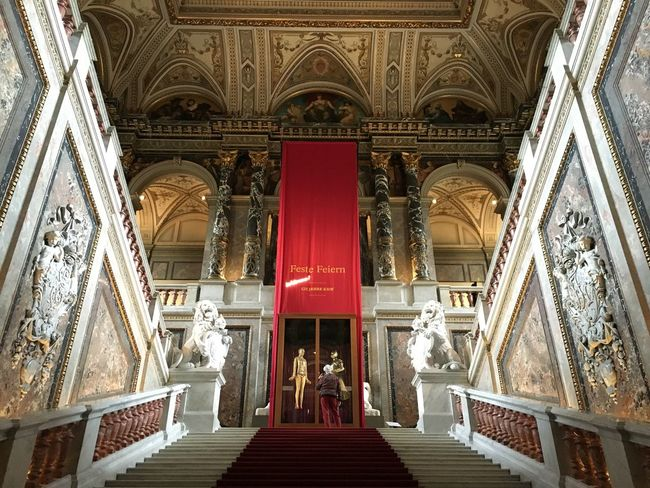 The Art History museum in Vienna, Austria Arch Architecture Art Built Structure Day Indoors  Low Angle View Men Museu Museum People Place Of Worship Real People Religion Spirituality Steps And Staircases Travel Destinations