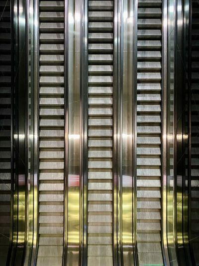 Full frame shot of escalator