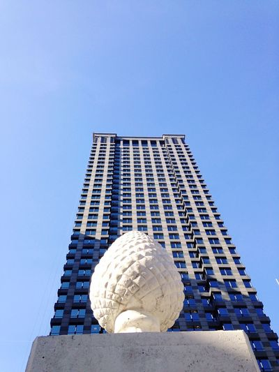 Low-Angle View Of Sculpture Of Egg