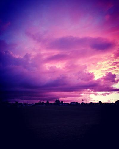 Sunset Romantic Sky NZ :)