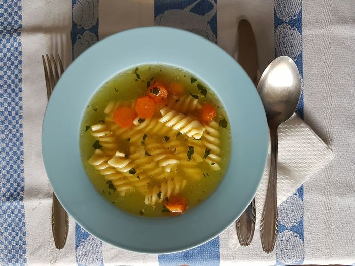 Food And Drink Ready-to-eat Healthy Eating Food Freshness Indoors  Soup Bowl High Angle View Vegetarian Food No People Plate Vegetable Soup Directly Above Gourmet Serving Size Close-up