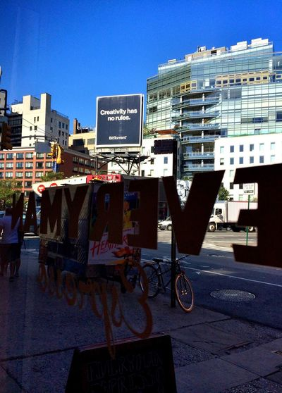 """Creativity has no rules"" at Everyman Espresso on August 18, 2014 in New York City. #StartOfMyDay #EquilibriumCoffee"
